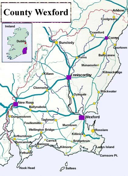 Maps Page For Bunclody County Wexford Ireland